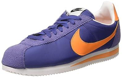 check out 6d069 cfebe Nike Men s Classic Cortez Nylon Purple Bright Mandarin Running Shoes-11  UK India
