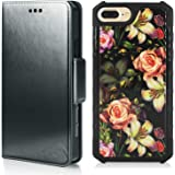 MODOS LOGICOS Magnetic Detachable 2 in 1 Wallet Case Compatible with iPhone 7 Plus/iPhone 8 Plus, PU Leather Wallet Folio & R