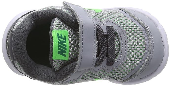Nike Flex Experience 4 (TDV), Zapatos de Primeros Pasos para Bebés, Gris/Verde/Blanco (Wolf Grey/Vltg Grn-LCD Grn-Wht), 26 EU