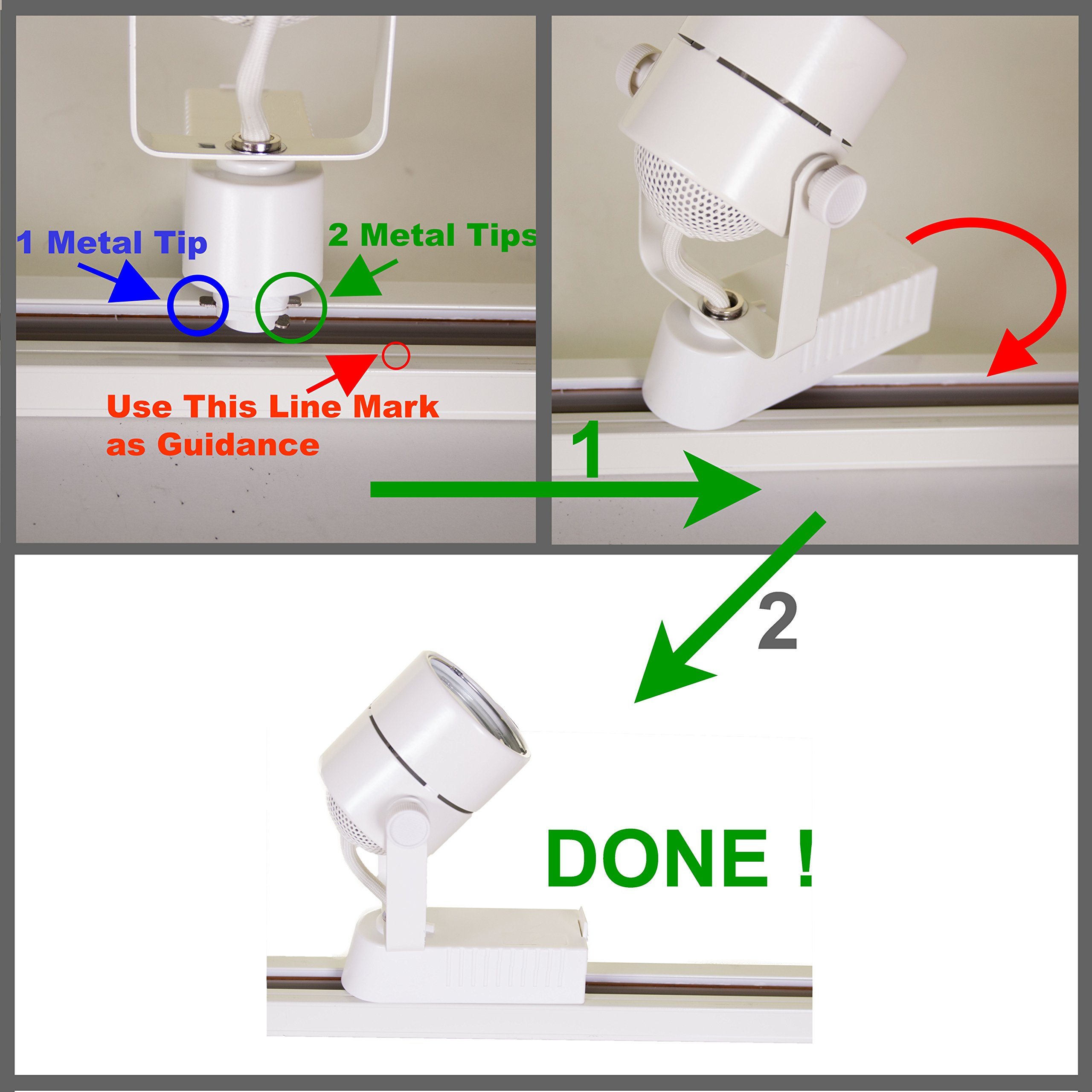 Direct-Lighting 50016 White MR16 Gimbal Ring Low Voltage Track Lighting Head by Direct-Lighting (Image #1)