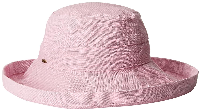 Mauve Scala Women's Cotton Big Brim Hat