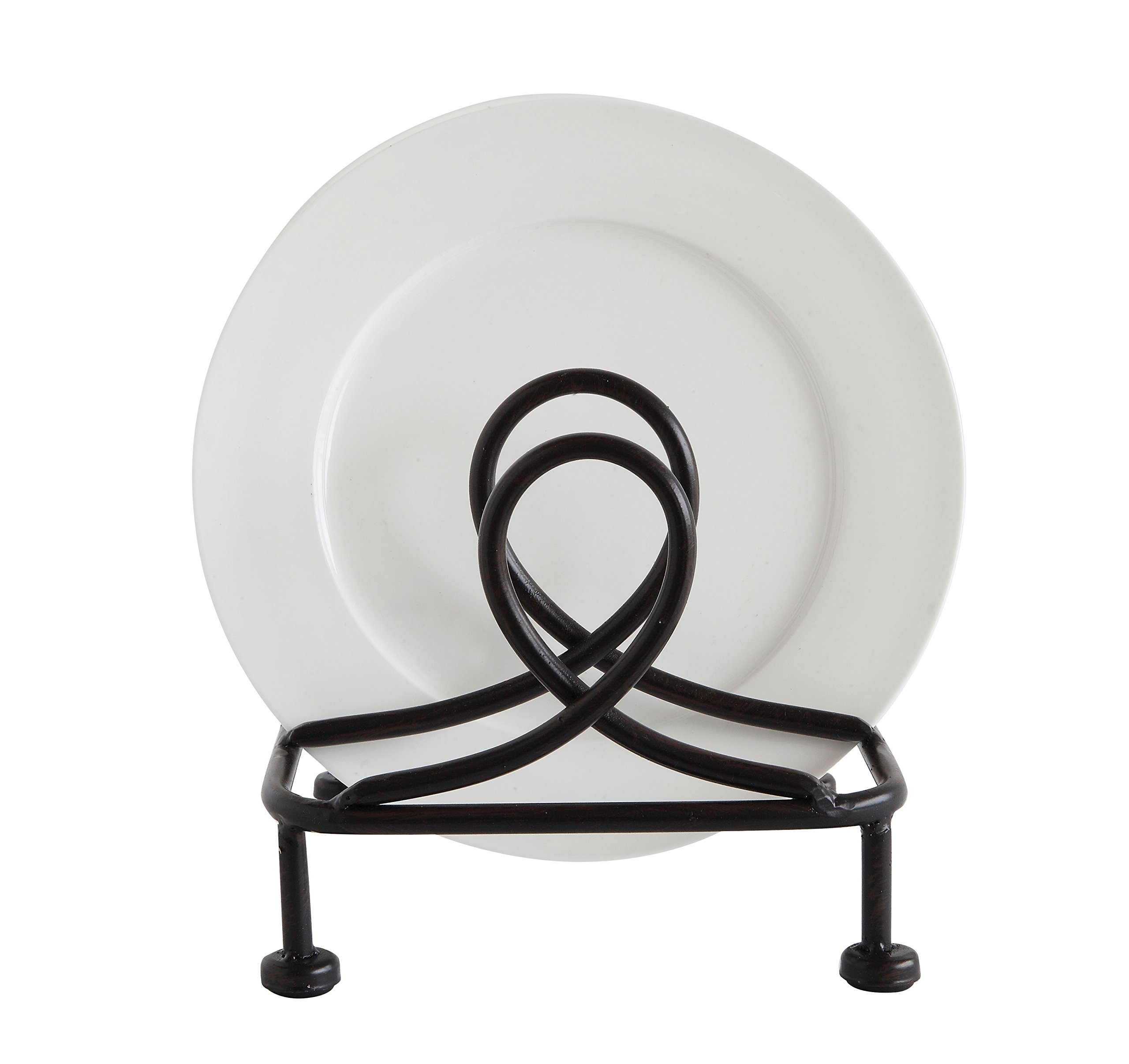 Creative Co-Op DA6914 Metal Plate Holder, Black by Creative Co-op