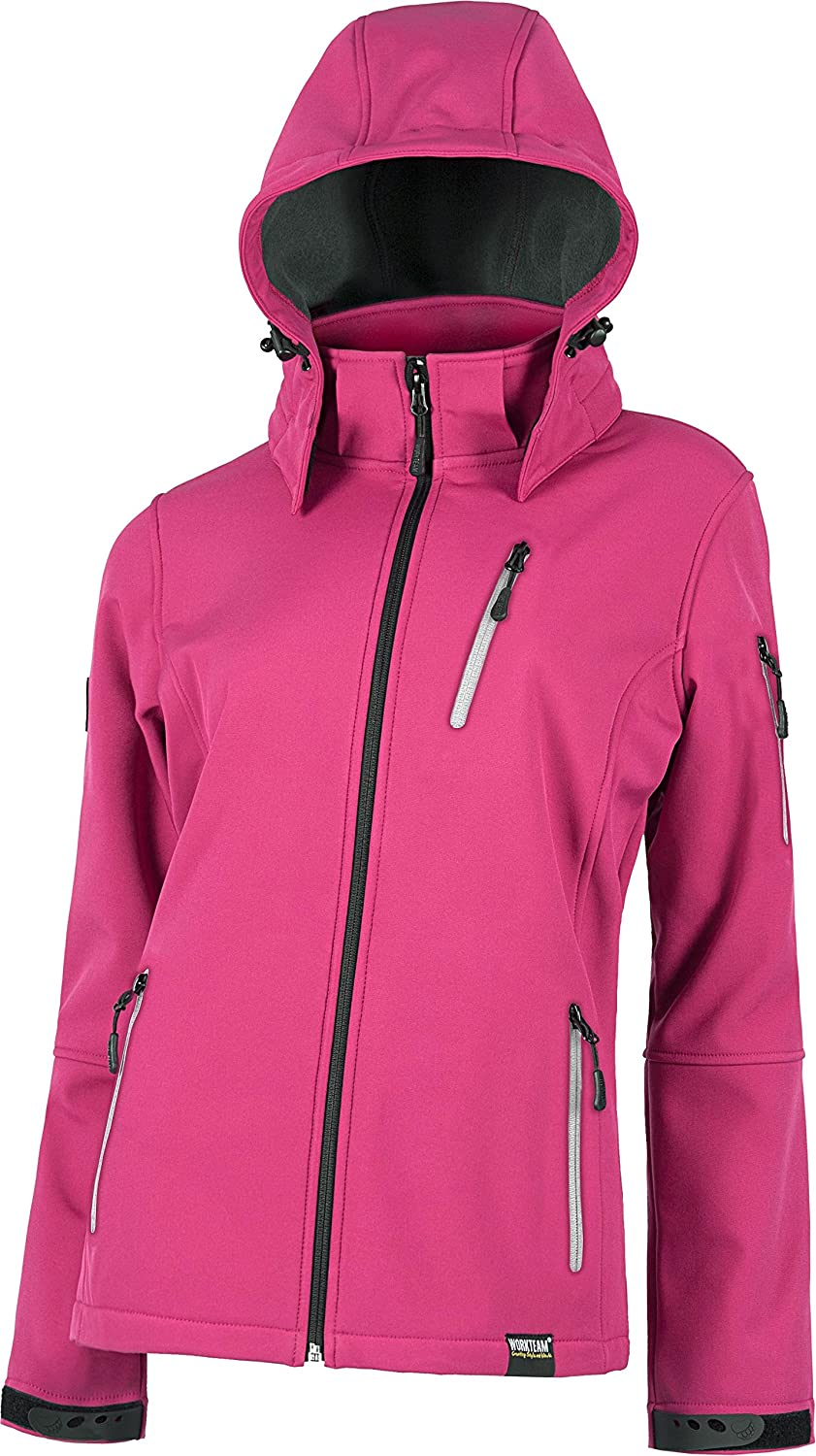 WORKTEAM - CHAQUETA WORKSHELL S9497 (T-L, FUCSIA): Amazon.es ...