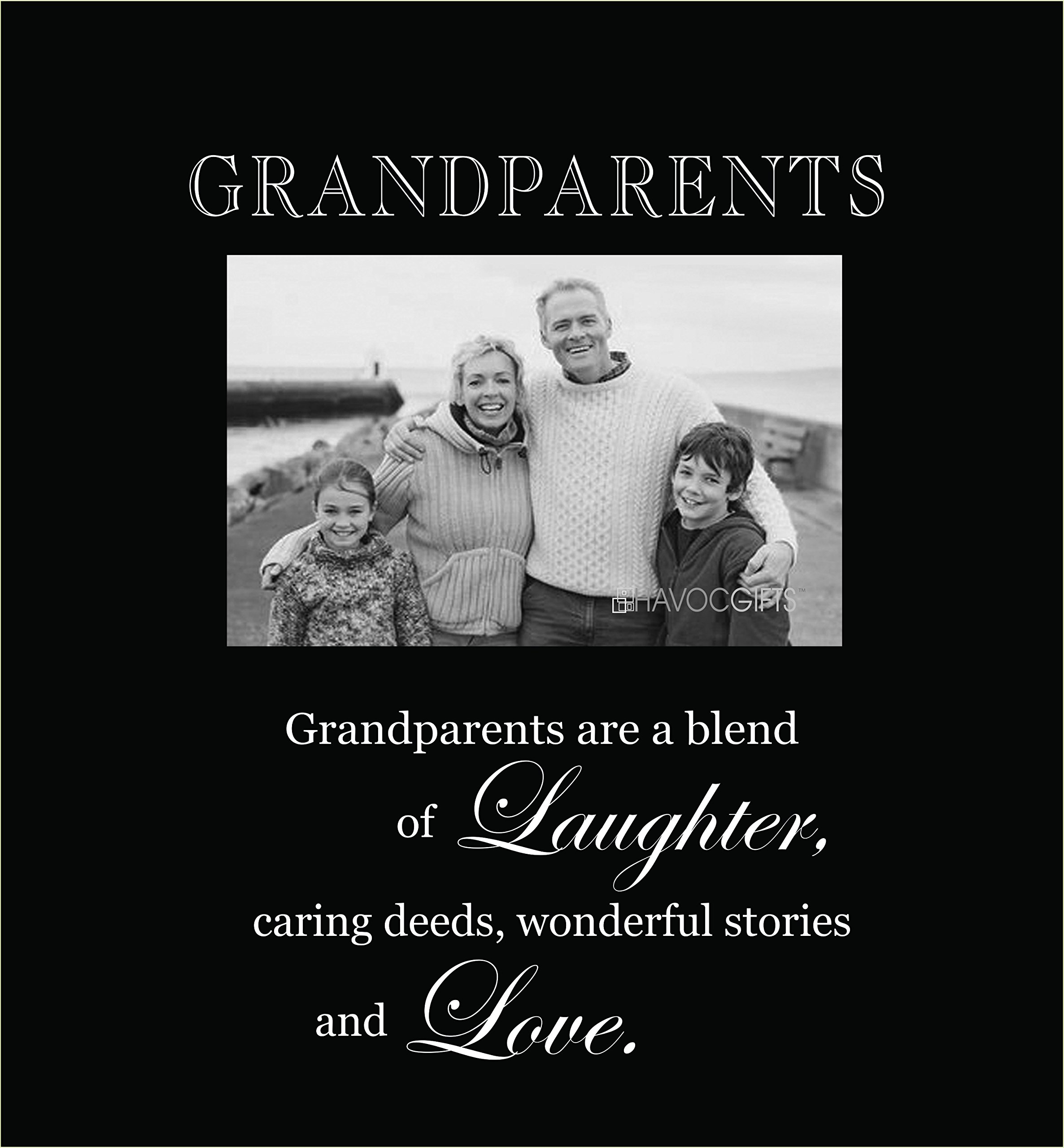 Infusion Gifts 3003-LB Grandparents Engraved Photo Frames, Large, Black by Infusion Gifts