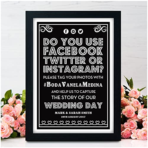 Personalised Wedding Signs Facebook Twitter Instagram Social Media