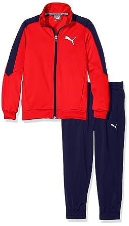 Puma 590905 - Chándal Niño, Large Logo Tricot CB B, High Risk Red ...