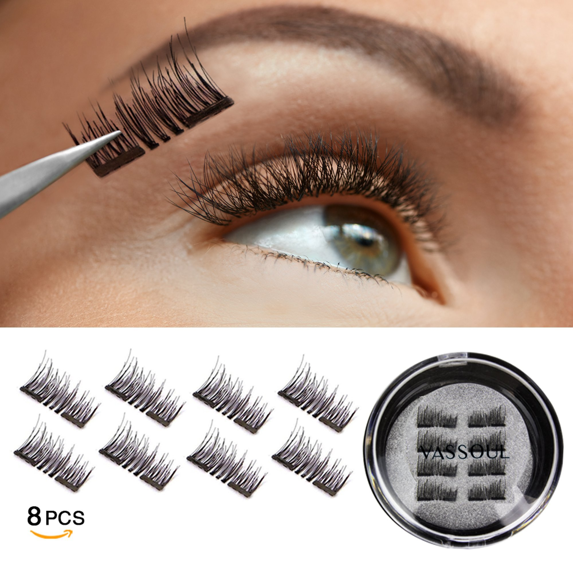 Amazon Magnetic False Eyelashes Free Mirror Full Eye Kit