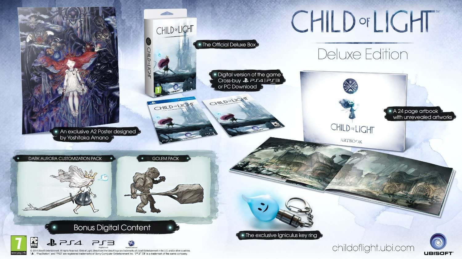 Child of Light Versione Deluxe, uguale per tutte le console
