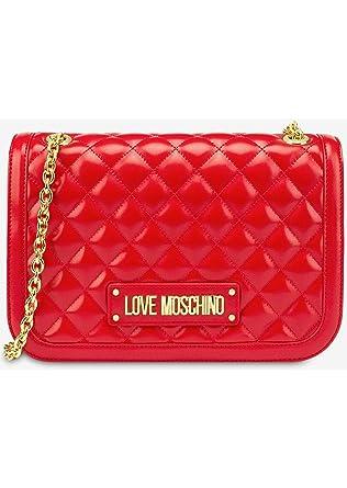 Borsa tracolla Love Moschino rossa con catena dorata