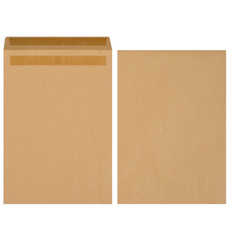 Herlitz 11289923 – Sobre B4, autoadhesivo sin ventana, ventana, sin 250 unidades, color marrón, color marrón 8696d6