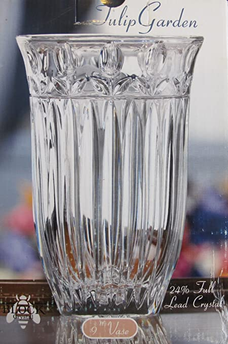 Amazon Block Vintage Hand Made Lead Crystal Vase Style Tulip