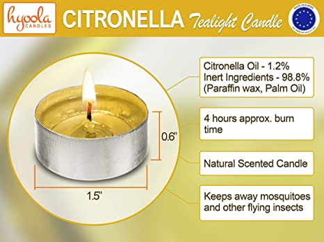 25 X Prices Citronella 4hr Tealights Candles