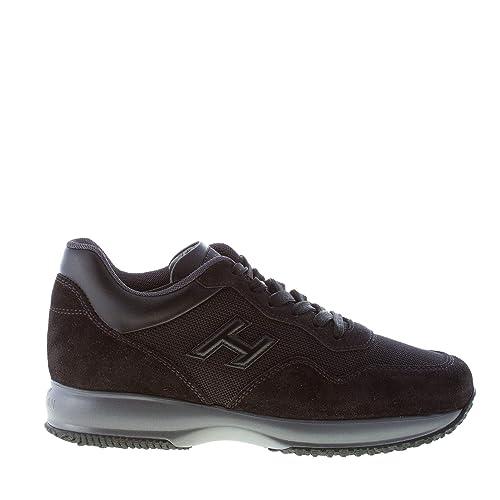 Hogan Uomo Interactive Sneaker in camoscio e Tessuto Tecnico Nero   Amazon.it  Scarpe e borse f5fefcfbccd