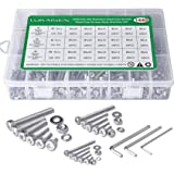 Screws and Nuts, 1440PCS 304 Stainless Steel M2 M3 M4 Hex Socket Head Cap Flat Washers Spring Washers Assortment Kit with 3 W