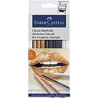 Carvão Classic Sketch Set 6 Unidades, Faber-Castell
