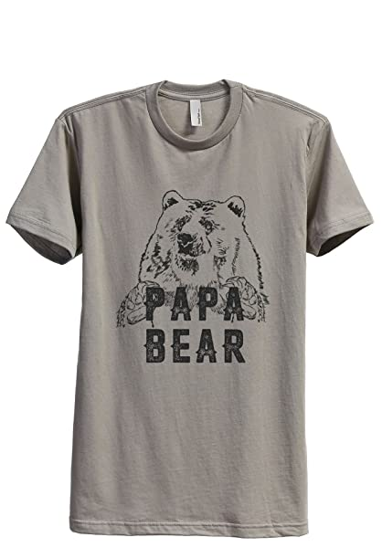 Papa Bear Proud Dad Modern T Shirt Top Tee 7544