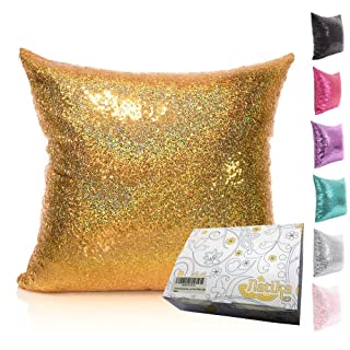 18 Inch Double-face Two Tone Sequins Mermaid Europe Luxurious Pillow Cover (Mermaid Tail) Netlab