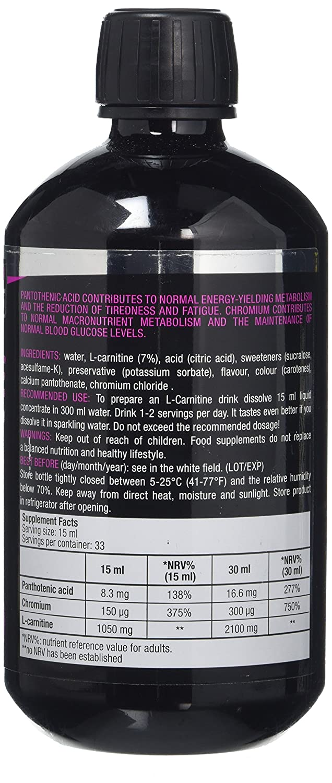 Biotech L-Carnitine + Chrome Apple Pear 500ml