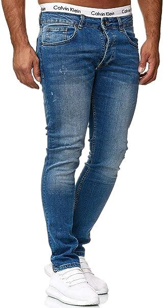 Jeans Hose Herrenjeans Jeanshose Denim Slim Fit Used Grau Herren