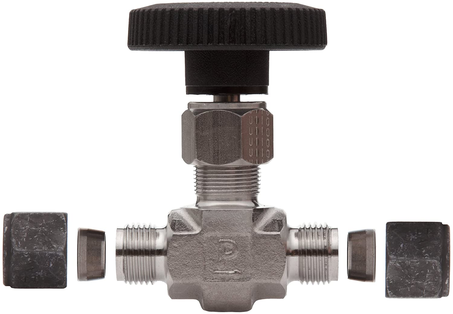 Parker 316 Stainless Steel Inline Process Needle Valve with PTFE Stem Seal 3//8 Compression CPI Inlet//Outlet Port 5000 psi 3//8 Compression CPI Inlet//Outlet Port 6Z-V6LN-SS