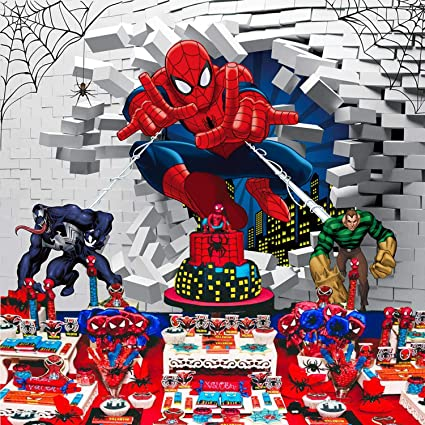 Telón de Fondo con diseño de Spiderman de superhéroe para ...