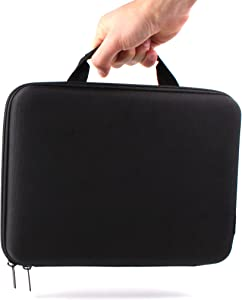 DURAGADGET Premium Quality Hard EVA Shell Carry Case with Handle in Matte Black - Compatible with The Acer Iconia One 10 (B3-A20) | Acer Iconia Tab 10 A3-A40