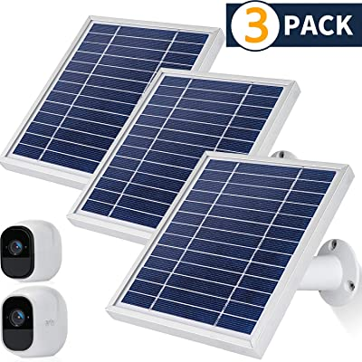iTODOS Solar Panel Compatible with Arlo Pro and Arlo Pro 2, 11.8Ft Outdoor Power Charging Cable and Adjustable Mount,Not for Arlo Ultra and Arlo Pro3(3 Pack,Silver): Garden & Outdoor