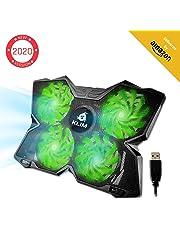 KLIM™ Wind - Refroidisseur Ordinateur Portable + Le Plus Puissant + Refroidissement Ultra Rapide + 4 Ventilateurs Silencieux + Refroidisseur PC Portable PS4 Xbox - Version 2019 - Vert
