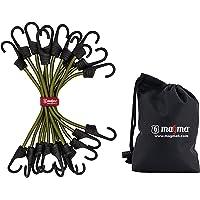 MAGMA 12-Unit Bungee Koorden pakket | Kabelbinders voor Auto Truck en Trailer | Bagagebanden voor het beveiligen van…