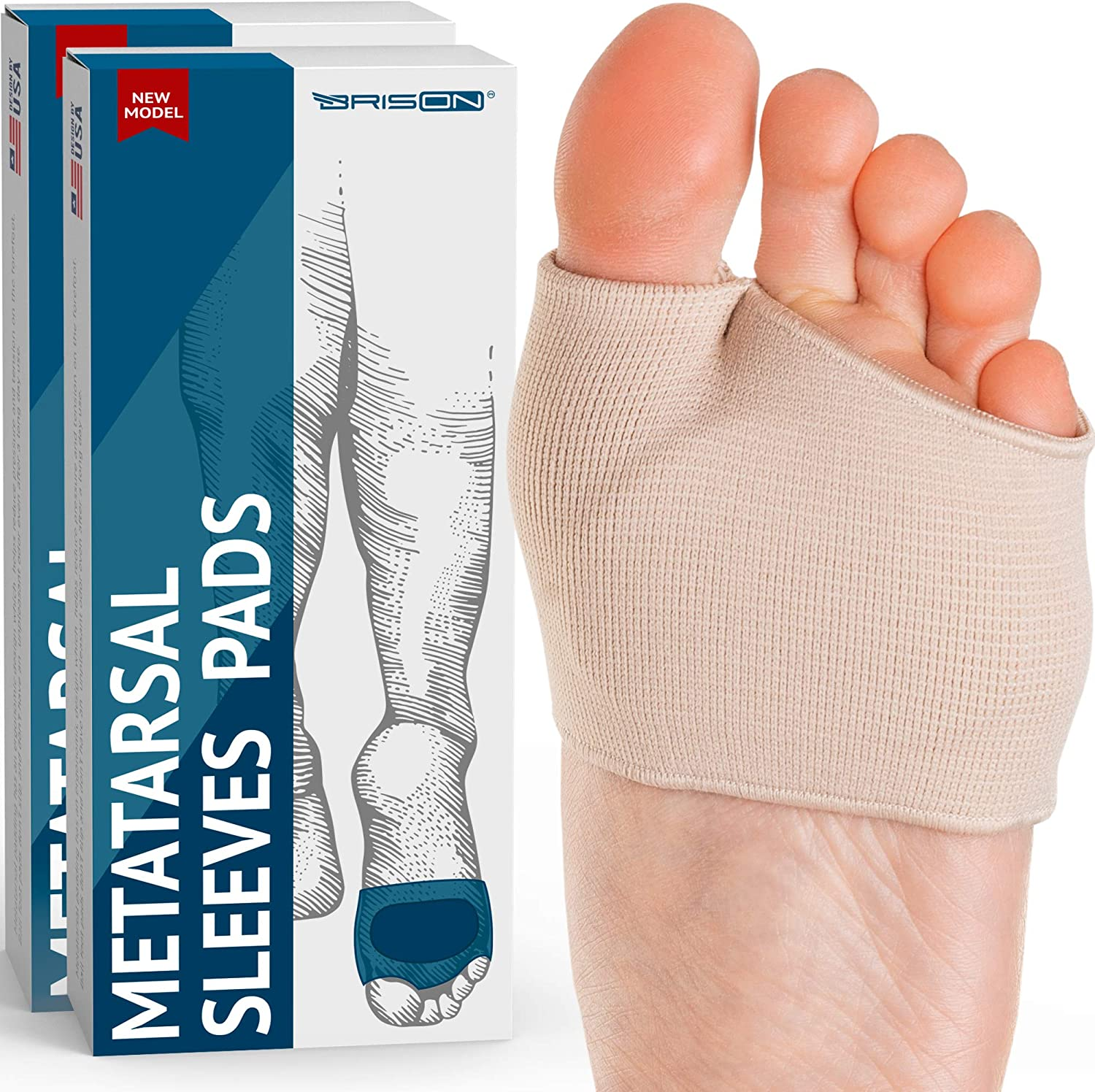 Temiart Felt Metatarsal Pads 1//4 Thick- 6Pack Ball of Foot Cushions for Women /& Men Foot Pain Relief