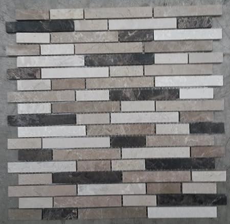 Glasmosaik Fliesen Braunbeige Und Beige Fliesen   Naturstein Matte Fliesen 30x30 Cm 8 Mm Mosaik Braun Beige Mix Marmor