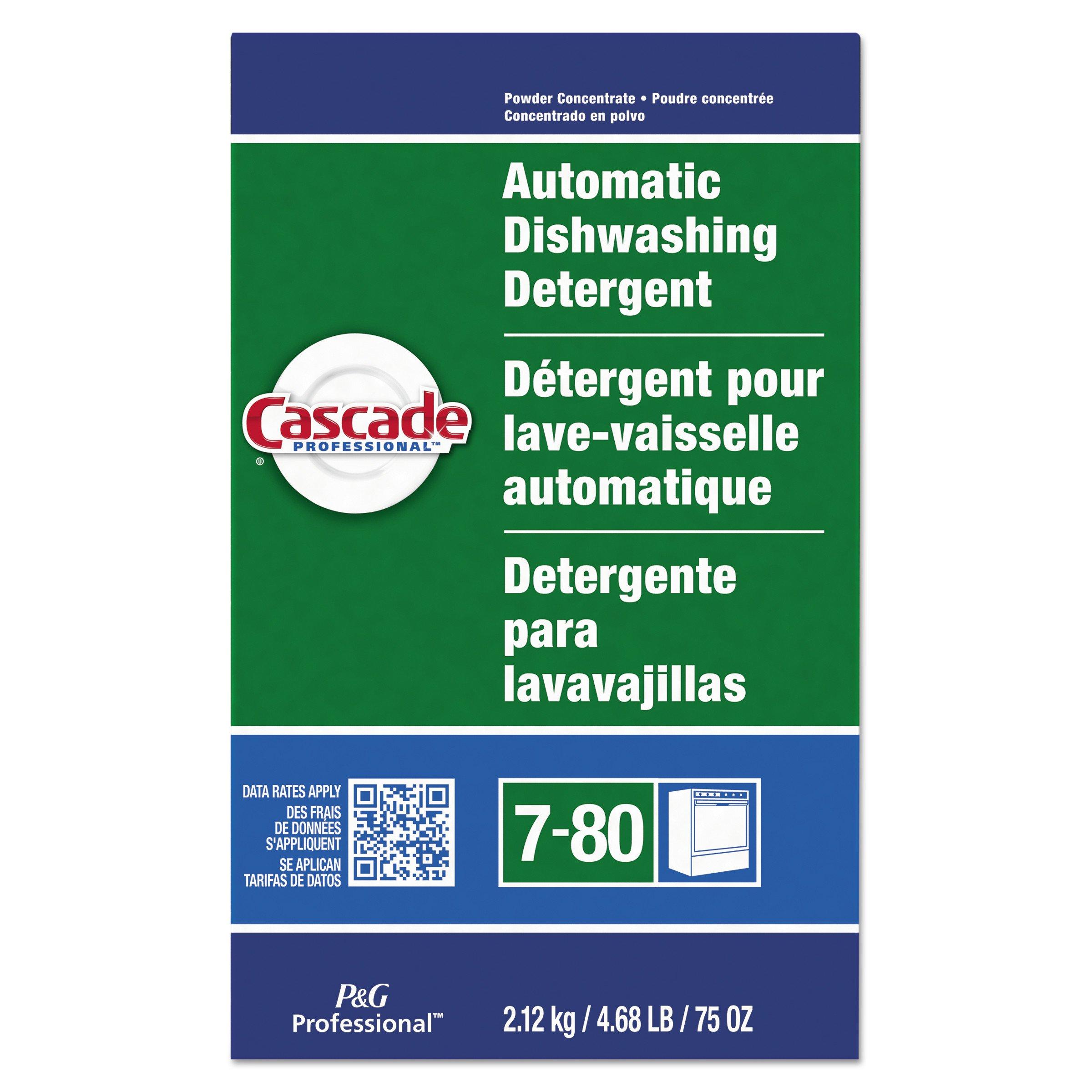Cascade Professional Automatic Dishwasher Detergent Powder, Fresh Scent, 75 oz. (Case of 7)