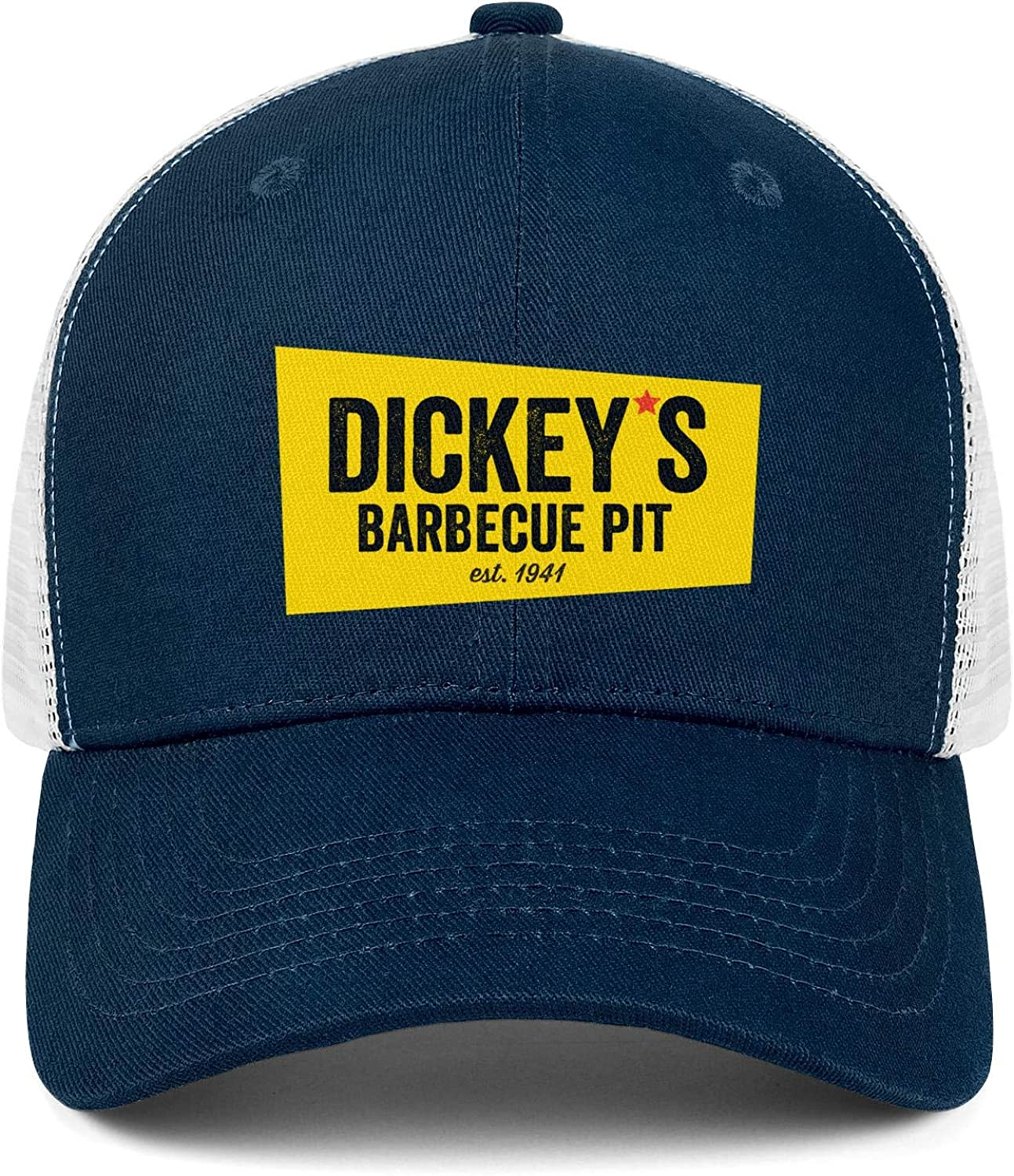chenhou Unisex Dickeys Barbecue Pit Hat Adjustable Fitted Dad Baseball Cap Trucker Hat Cowboy Hat