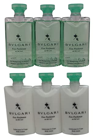 Bvlgari Green Tea au the vert Shower Gel and Body Lotion 3 of Each