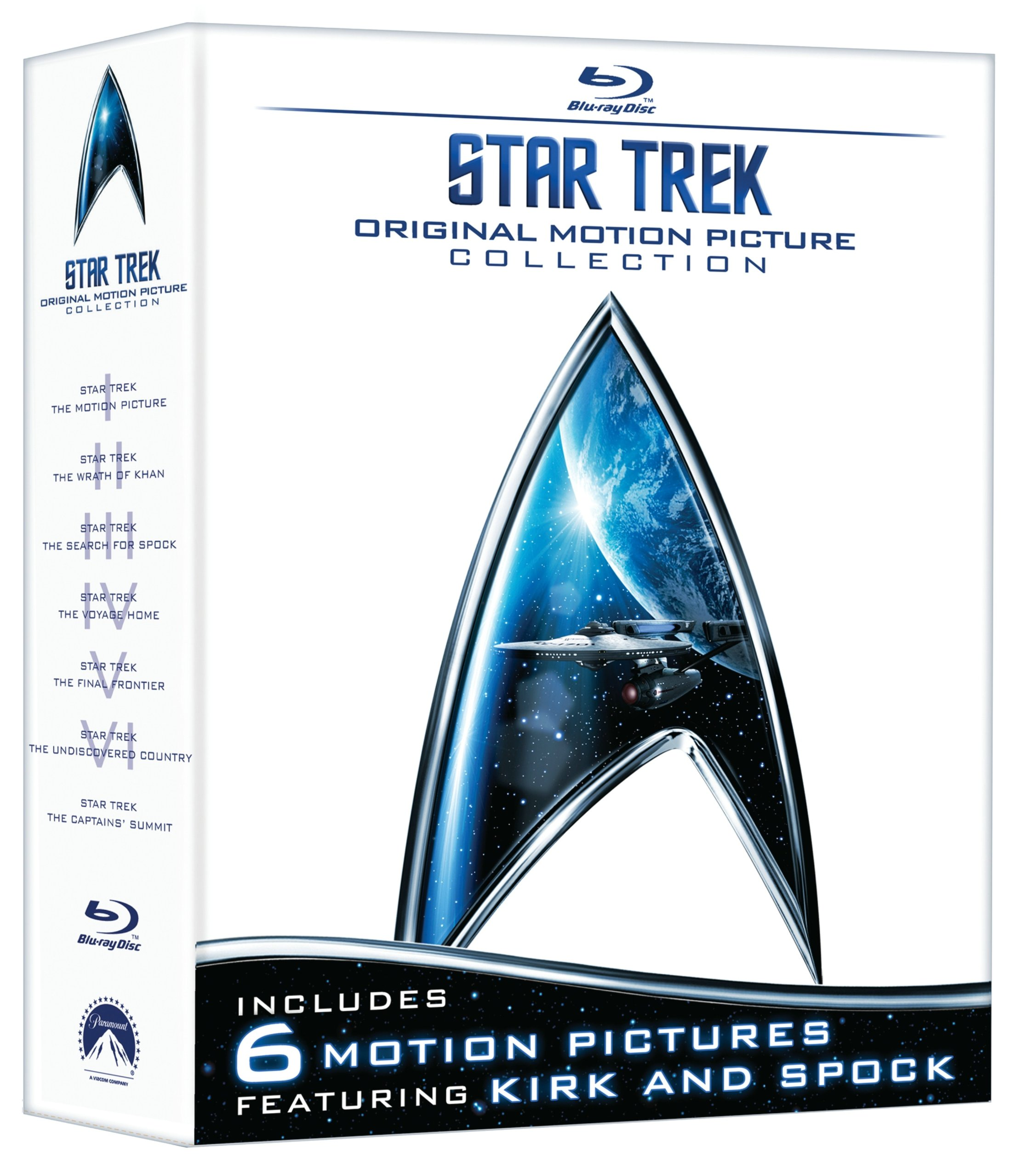 Blu-ray : Star Trek: Original Motion Picture Collection (Bonus DVD, Gift Set, Remastered, Restored, Subtitled)