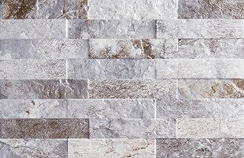 Wandfliese Dekor Brickside Beton Grau Im Format 25x45cm