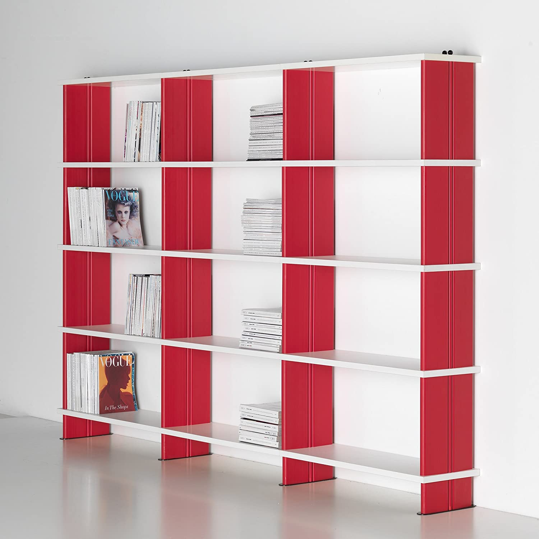 Amazon Com Nikka Modular Bookshelves Modern White Bookcase