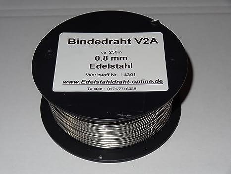 1 bobina de alambre de alambre de acero inoxidable VA V2 A 0 ...