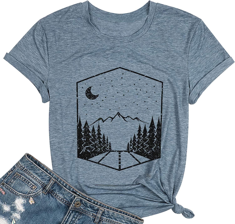 Tops, Tees & Blouses Fashion Take A Hike Camping Shirt Women ...
