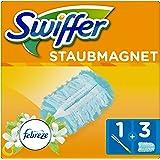 Swiffer Staubmagnet Set mit Febreze-Duft 1Griff plus 3Ersatztücher, 1er Pack (1 x 1 Stück)