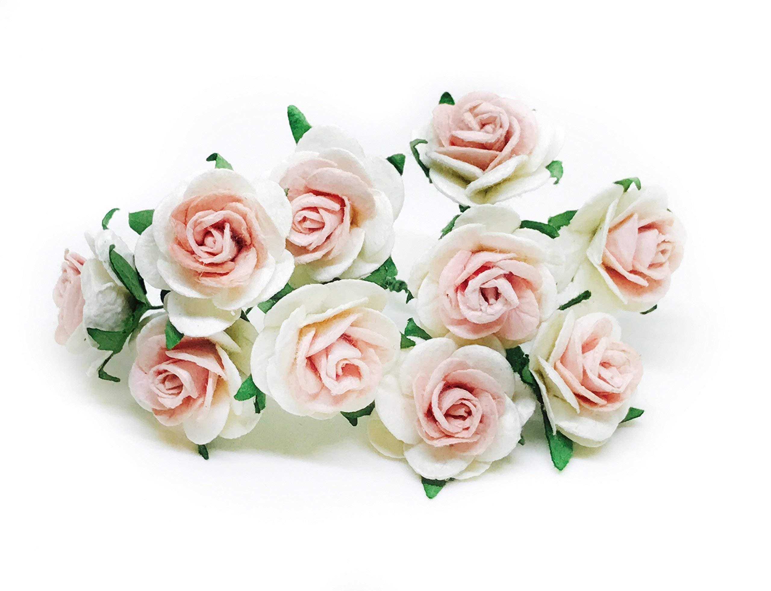 1 White Blush Paper Flowers Paper Rose Artificial Flowers Fake Flowers Artificial Roses Paper Craft Flowers Paper Rose Flower Mulberry Paper Flowers