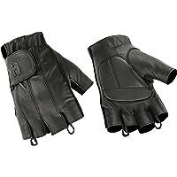 Deer Soft Fingerless Gel-Padded Palm Motorcycle Riding Gloves