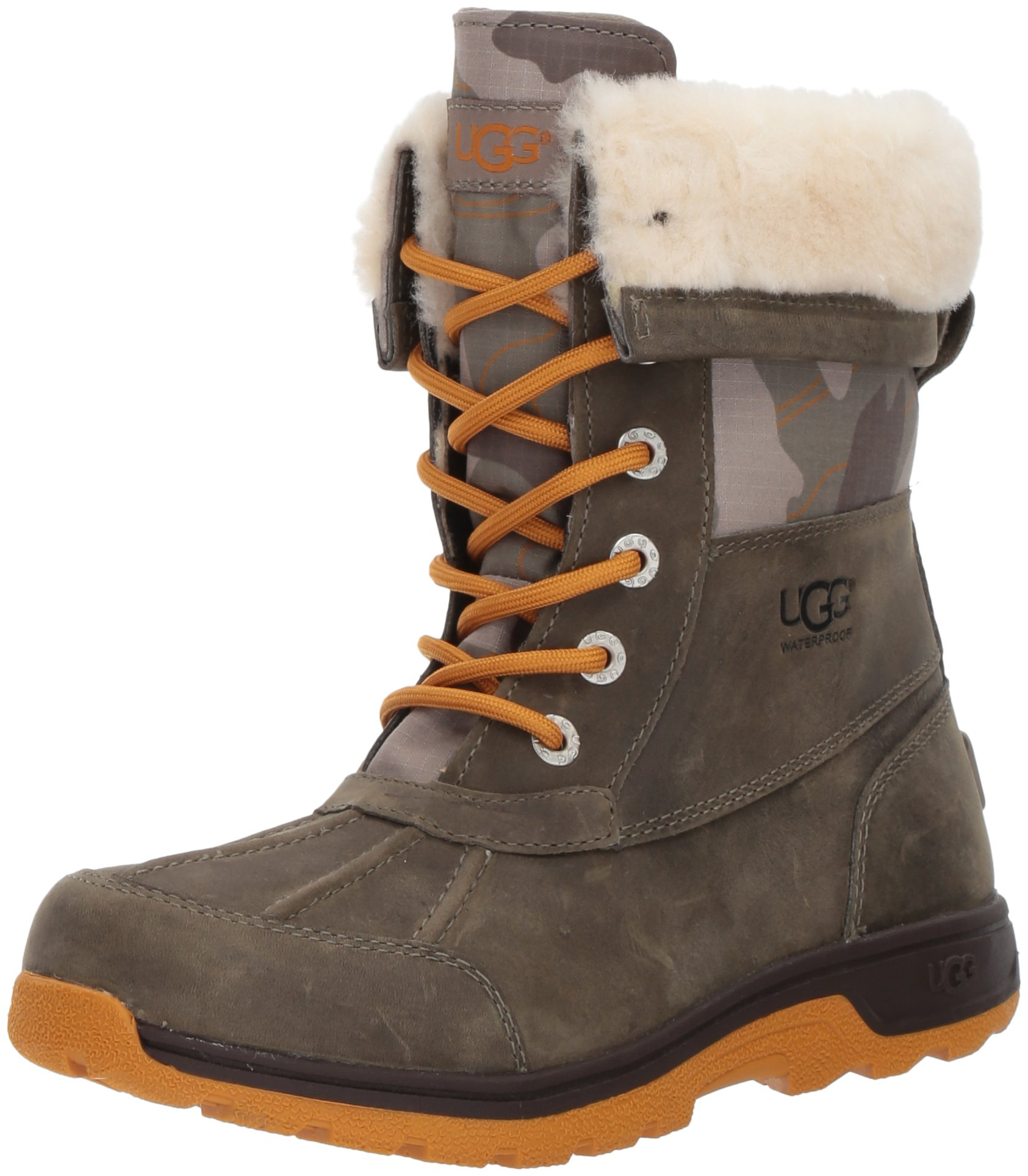 UGG Kids K Butte II Camo Lace-up Boot, Brindle, 5 M US Big Kid