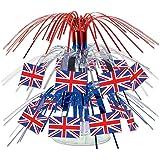 Beistle 57371 British Flag Mini Cascade Centerpiece, 7.5 Inch