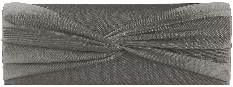 JosyJoe 'Shirley' Clutch/Abendtasche, 25x8,5x5 cm (B x H x T), Farbe:Grau
