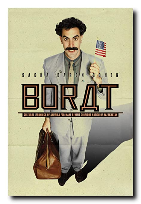Amazon.com: Póster de película Borat de Mile High Media de ...
