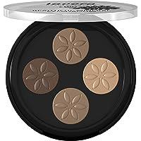 Lavera Beautiful Mineral Eyeshadow Quattro, 1 x 3 g 4 x 0.8g Cappuccino Ream 02