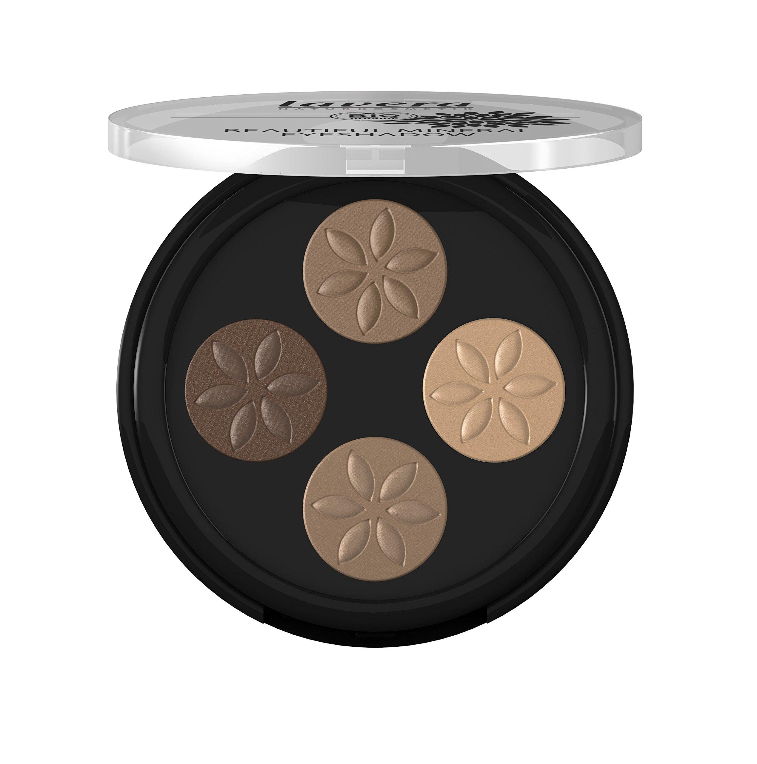 lavera Fard à paupières - Beautiful Mineral Eyeshadow - Quattro Cappuccino Cream 02- poudres compactées - vegan - Cosmétiques naturels - Ingrédients végétaux bio - 100% Naturel Maquillage (0,8 g) product image