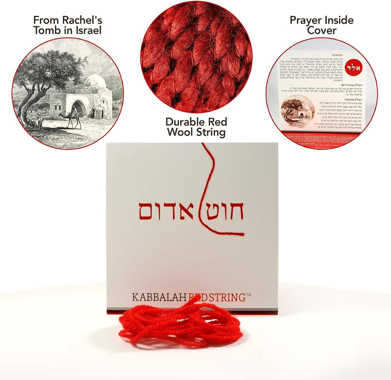 Blessing /& Instructions Included! Prayer Red String Bracelet Pack 60 Inch Red String for up to 7 Evil Eye Protection Bracelets The Original Kabbalah Red String Bracelet from Israel