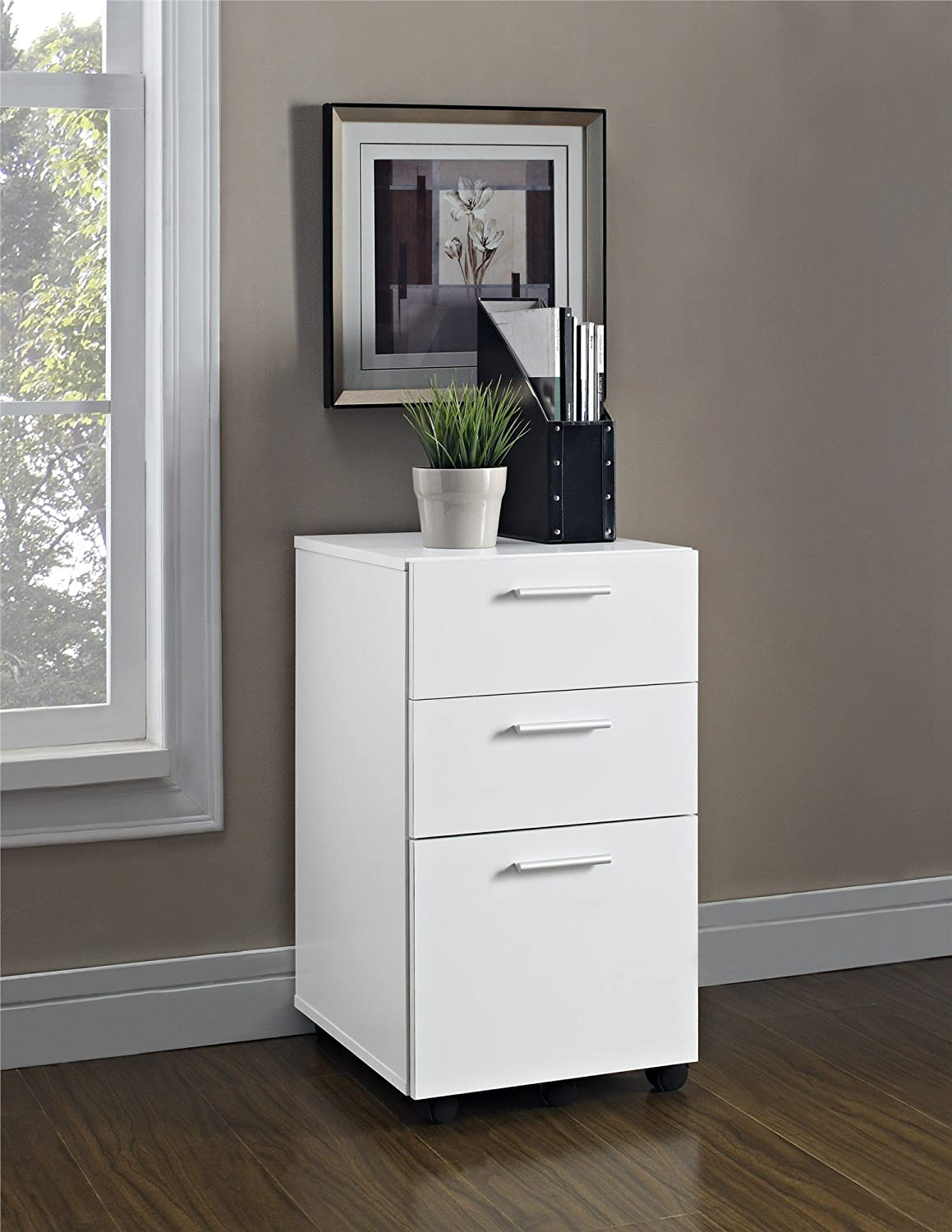 Amazon.com: Ameriwood Home Princeton Mobile File Cabinet, White ...